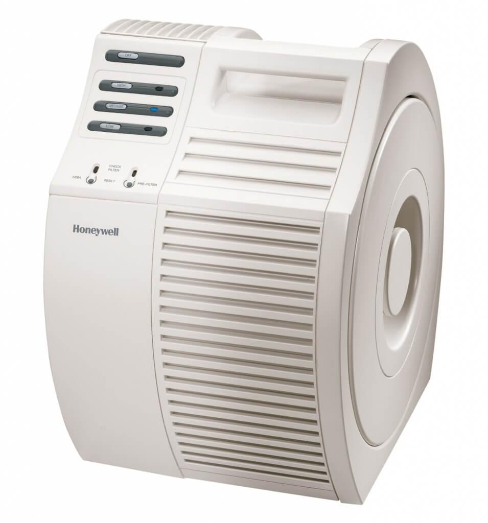 Honeywell-Luftreiniger in schickem marmorweiß (Bild: Amazon/Honeywell)